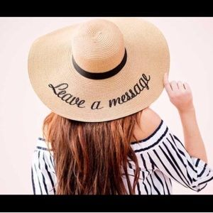 Leave a message sunhat